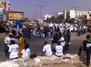 Manifestations à Dakar